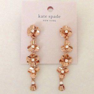 KATE SPADE Shine On Floral Linear Drop Earrings